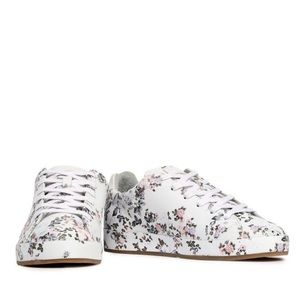 Rag & Bone Floral Print Leather Sneakers NEW
